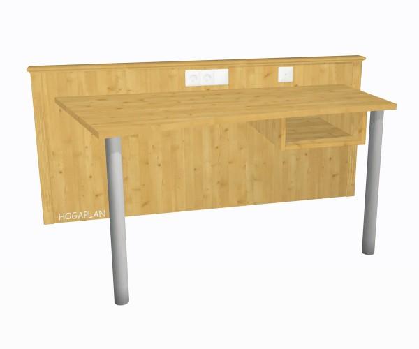 Schreibtischanlage mit 2 Füßen