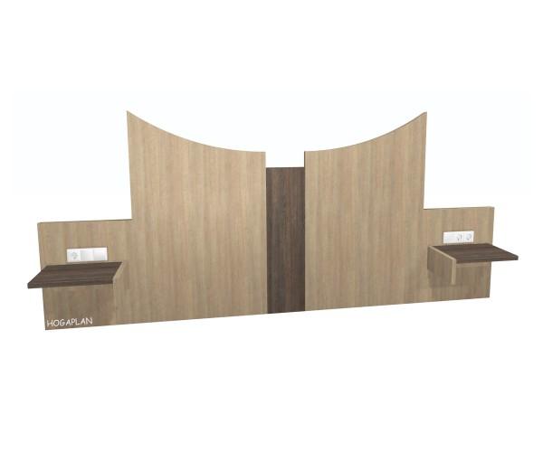Doppelbettpaneel Betten starr