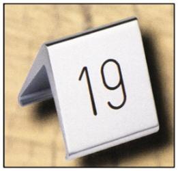 Tischnummernschild