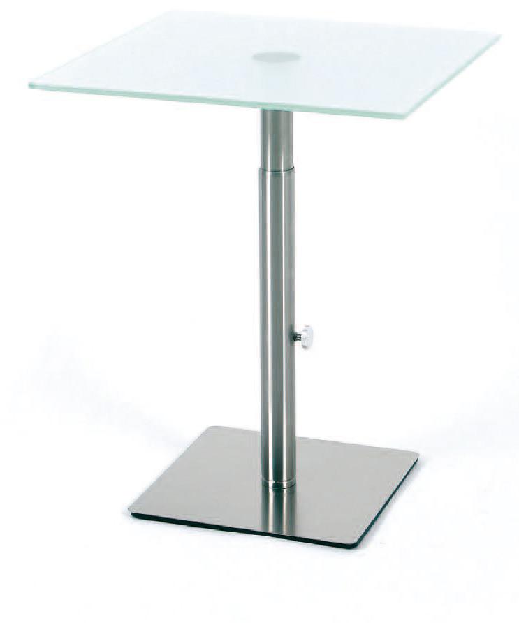 Beistelltisch glastisch 45 x 45 cm hohenverstellbar for Einbauspülmaschine 45 cm
