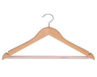 Kleiderbügel mit Haken Buche natur Sonderserie