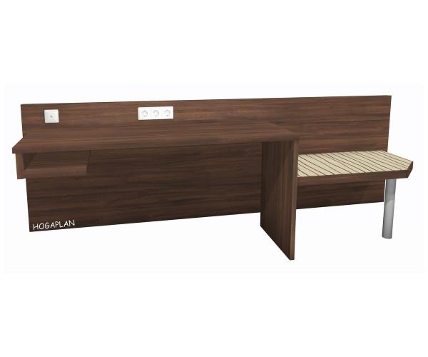 Schreibtischanlage mit Kofferablage