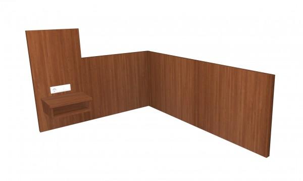 E-Wandpaneel Nachttischpaneel höher