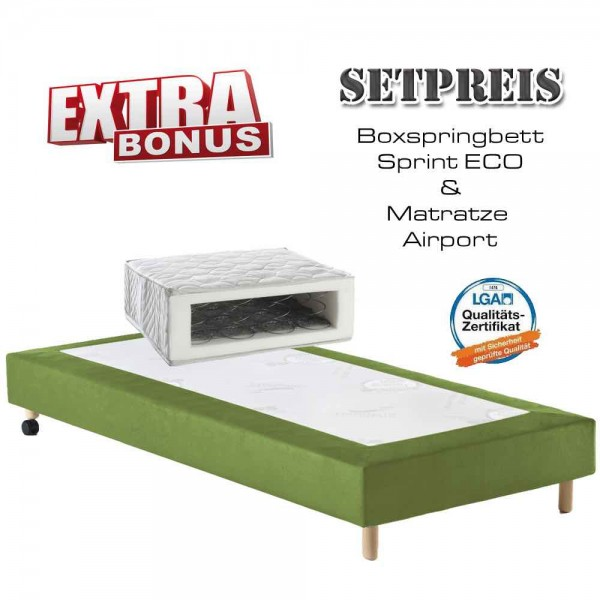 Boxspringbett Sprint-Eco + Matratze Airport