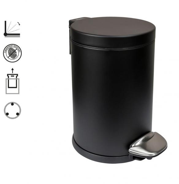 Hygieneeimer schwarz 3 Liter