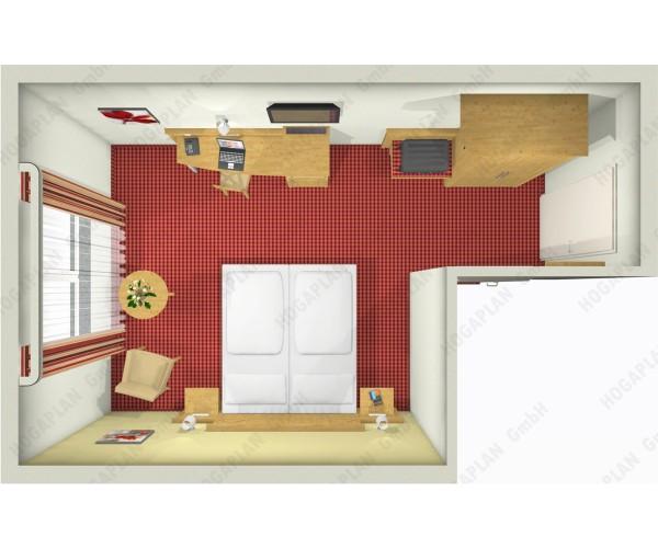 komplettes Doppelzimmer Landhaus - ohne Montage