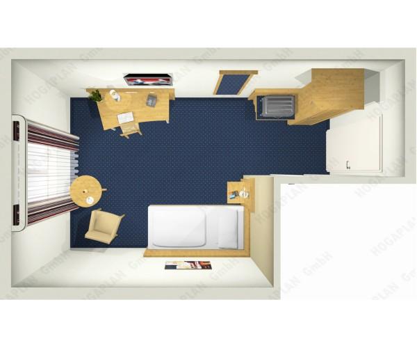 komplettes Einzelzimmer Landhaus - ohne Montage