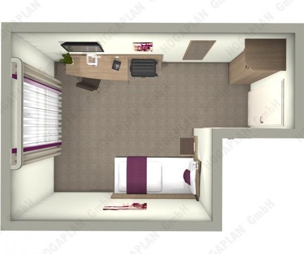 komplettes Einzelzimmer Bern - ohne Montage