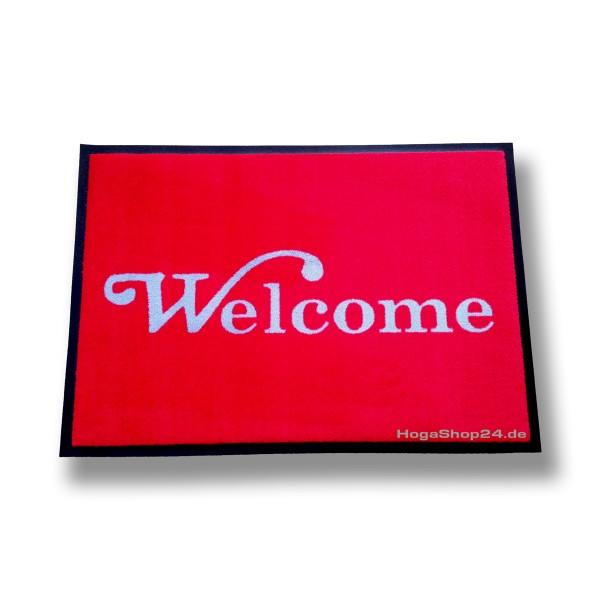 Schmutzlaufmatte TREND mit Logo Welcome 60x85 cm