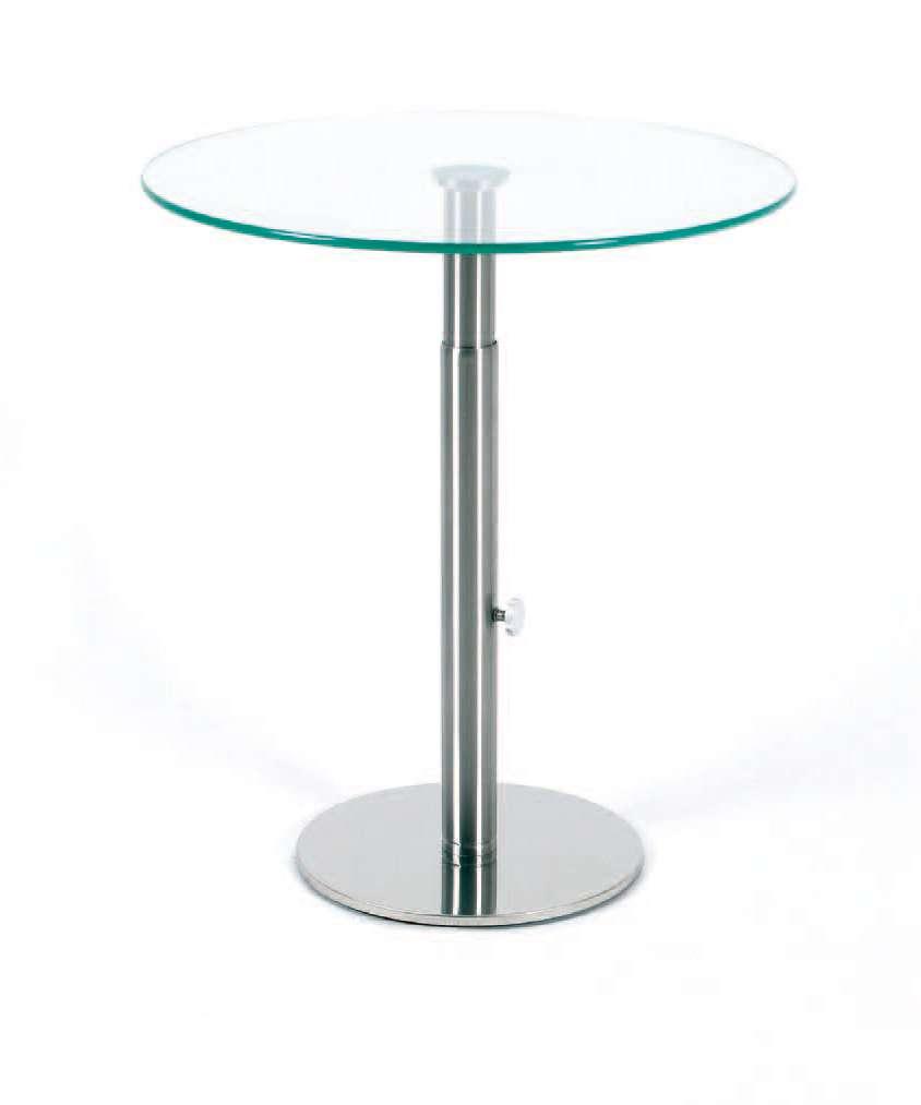 Glastisch Rund 50 Cm : glastisch rund h henverstellbar ~ Indierocktalk.com Haus und Dekorationen