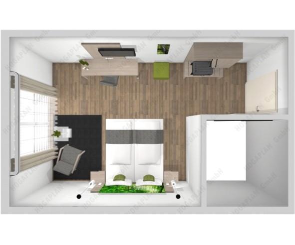 komplettes Doppelzimmer Berlin Design 4 - ohne Montage