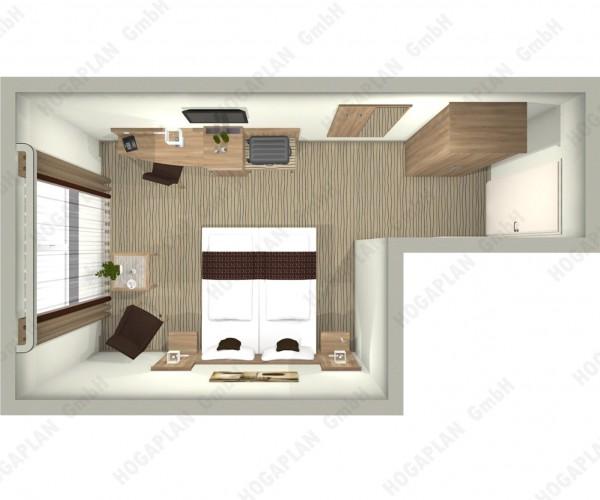 komplettes Doppelzimmer edel - ohne Montage