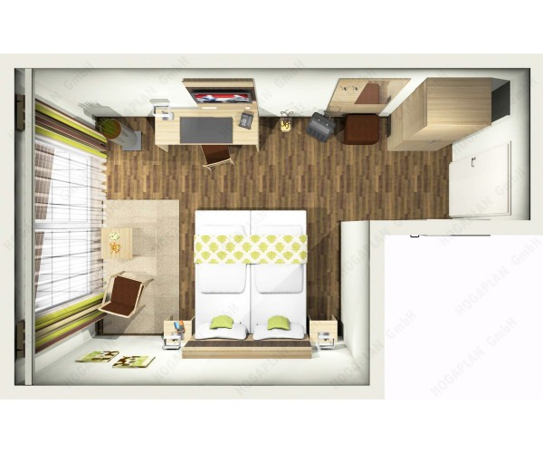 komplettes Doppelzimmer modern - ohne Montage