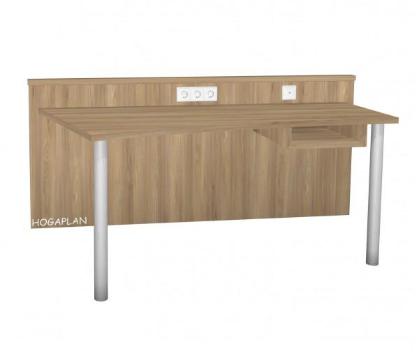 Schreibtischanlage mit Paneel