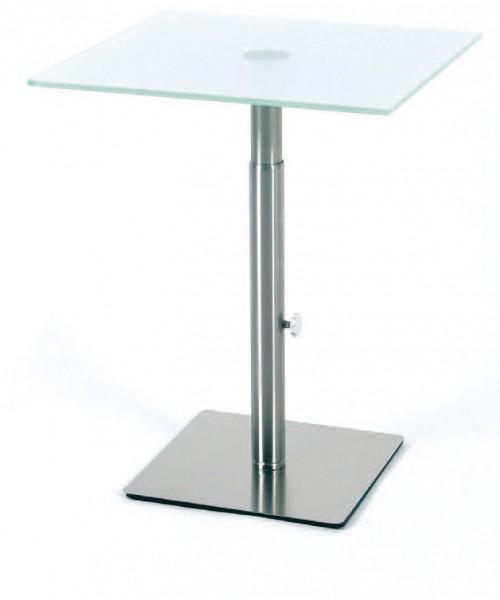 Beistelltisch / Glastisch 45 x 45 cm höhenverstellbar