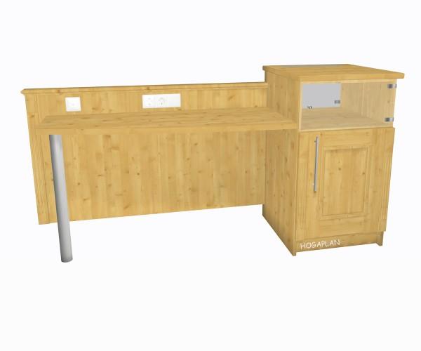 Schreibtisch mit Minibarturm