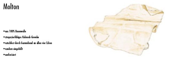 Matratzenauflage Molton