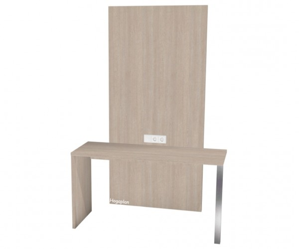 Schreibtisch mit TV Paneel