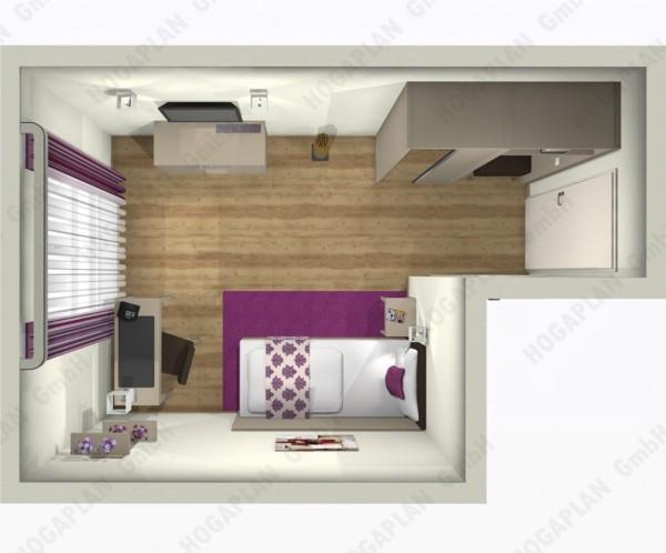 komplettes Einzelzimmer Frankfurt - ohne Montage