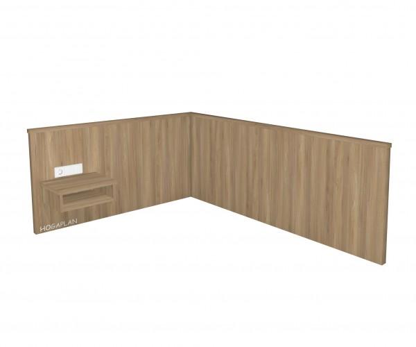 Einzelzimmer-Wandpaneel gerade