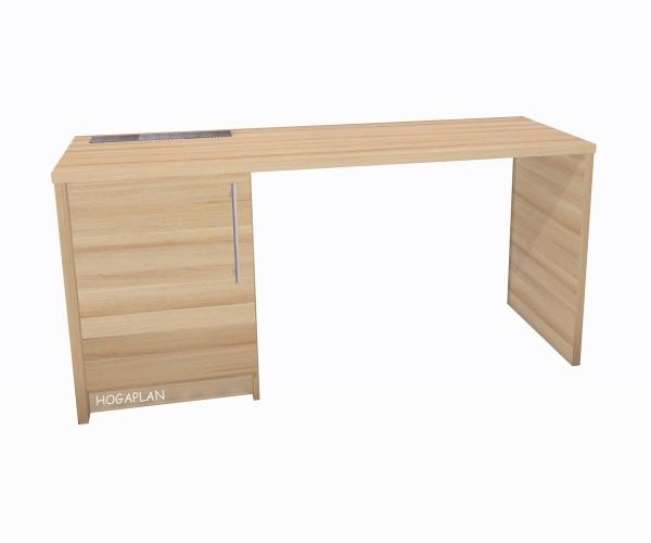 Schreibtisch mit Unterschrank für Minibar