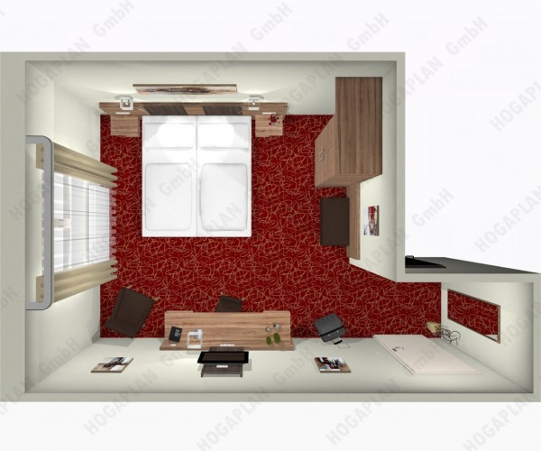 komplettes Doppelzimmer Bozen - ohne Montage
