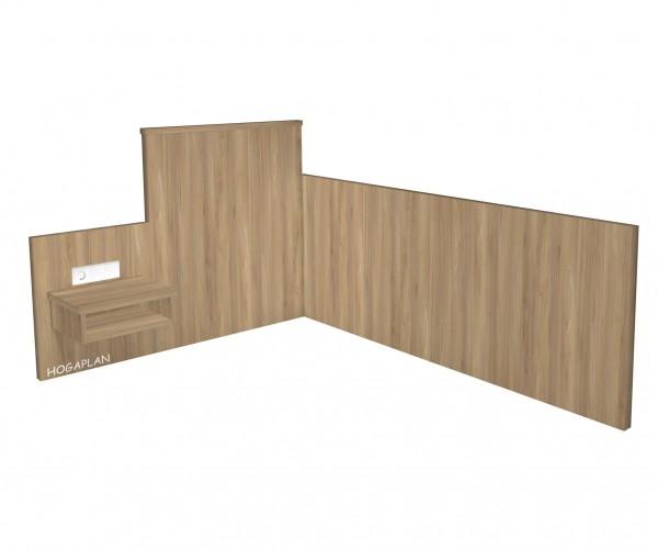 Einzelzimmer-Wandpaneel erhöht