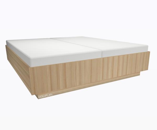 Holz- Doppelbett