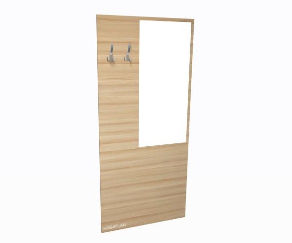 Spiegel.- Garderobenplatte