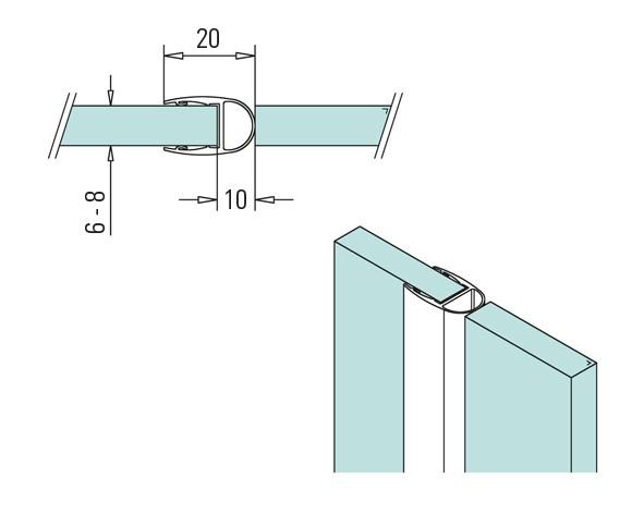 2m Duschkabinendichtung Streifendichtung 6-8mm